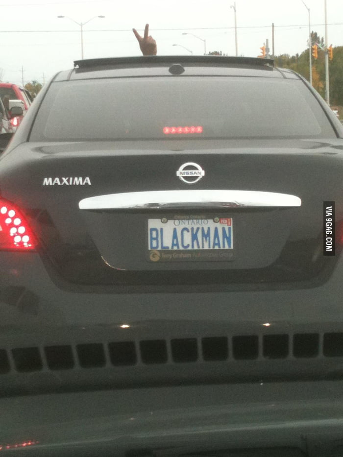 The driver caught me taking the picture of his Blackman plat