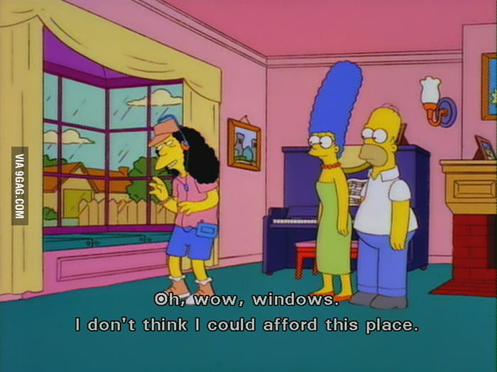 When my friends invite me over to their new houses.