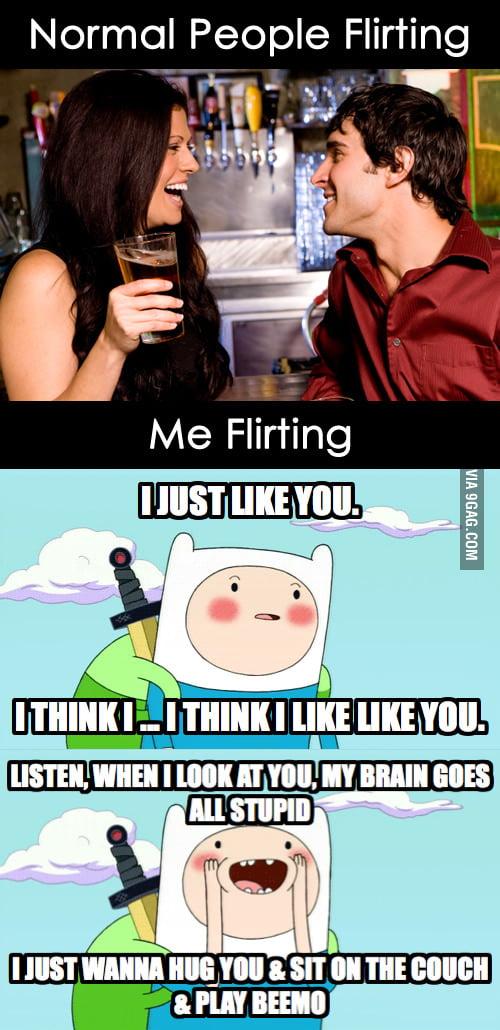 Me Flirting.