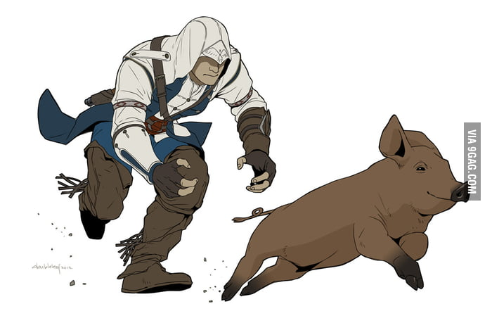 All I do in Assassin's Creed 3 is petting animals.