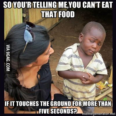 Skeptical Third World Kid on Five Seconds Rule