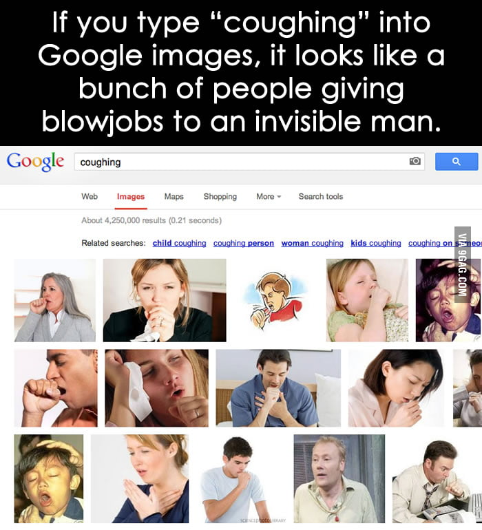 "If you type ""coughing"" into Google images..."