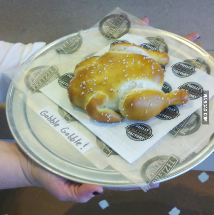 Awesome Turkey-Shaped Pretzel!