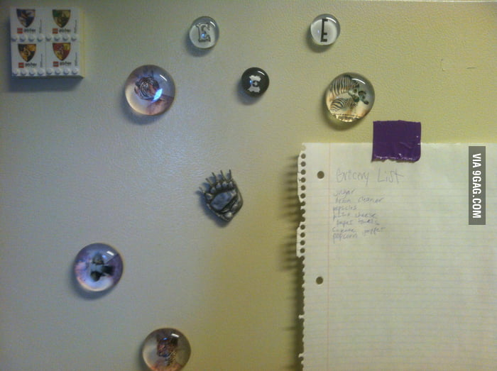 My roommate doesn't know how to use magnets.