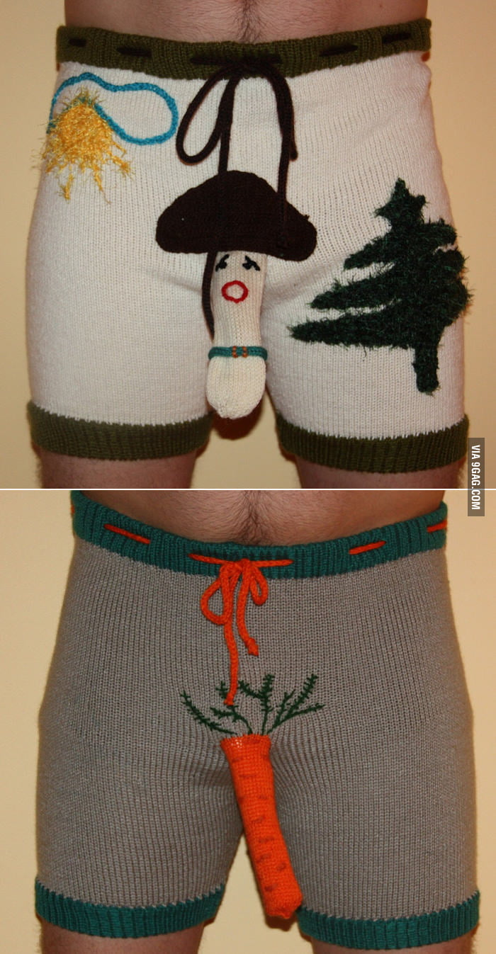 Mushroom and Carrot Shorts Sweaters