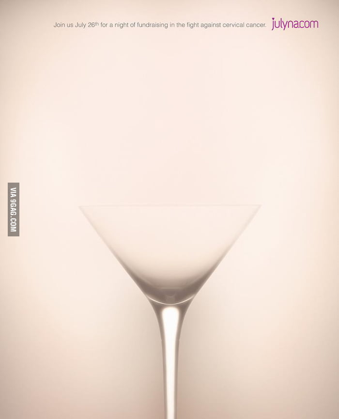 Amazing ad for a cervical cancer fundraising night.