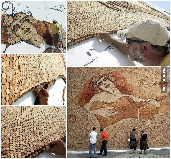World's Largest Cork Mosaic