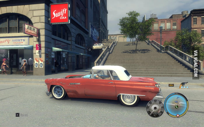 Playing Mafia II, I think the police is drunk.