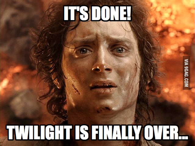 Twilight is finally over!