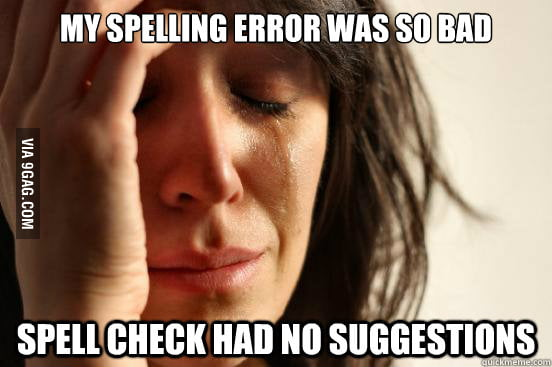 First World Spelling Problems