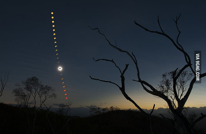 Total solar eclipse happened in Australia.