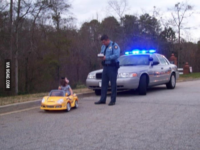 Madam, do you know why I pulled you over?