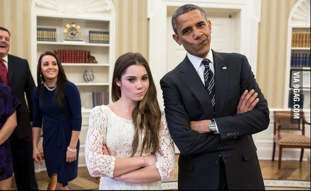 McKayla and Obama are unimpressed