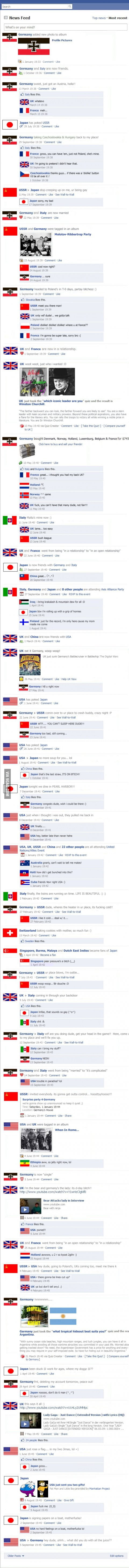 World War Two: Facebook Version.