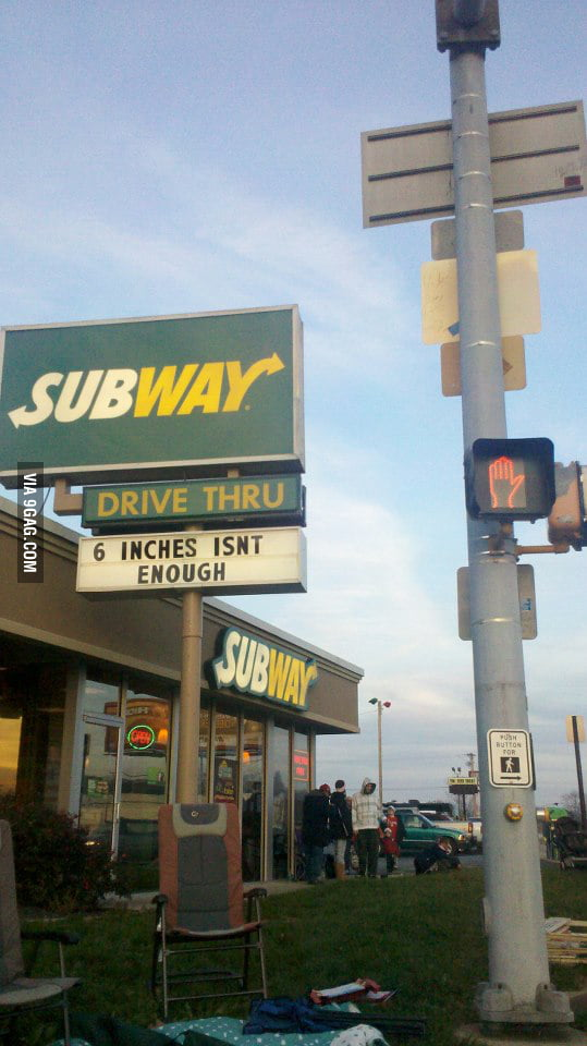 Subway's new marketing slogan insults my manhood.