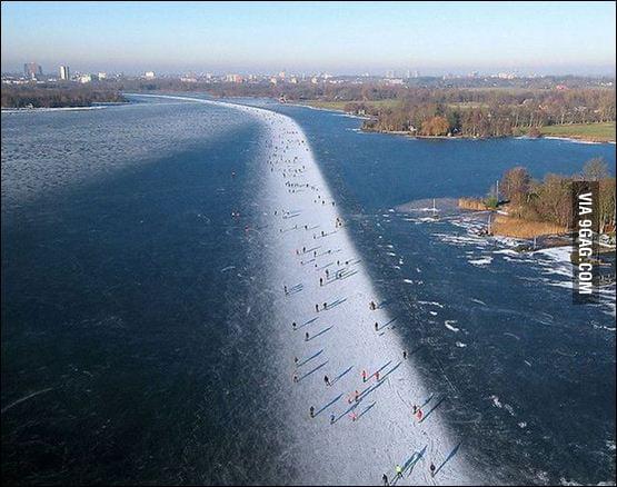 Ice skating in The Nederlands. I&