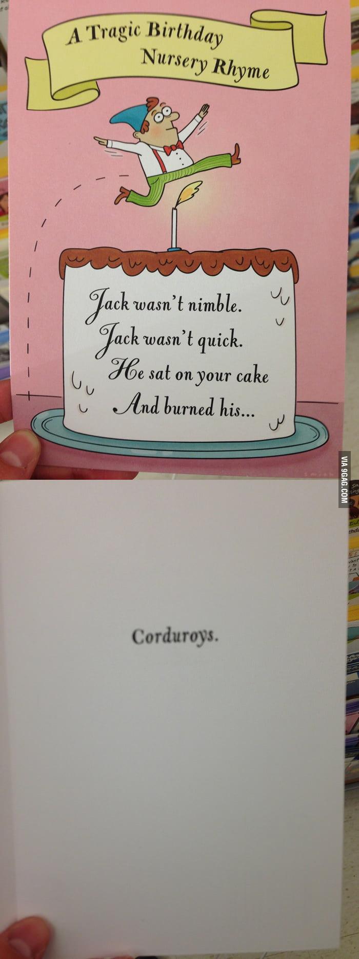 A Tragic Birthday Nursery Rhyme