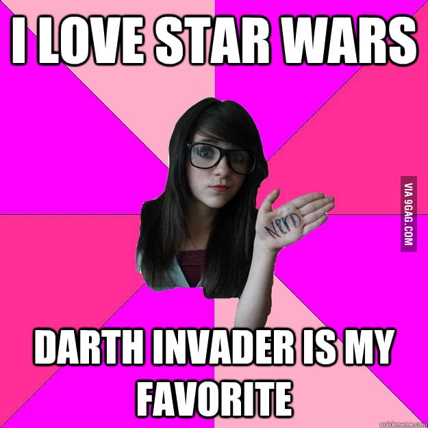 One of my classmates said she was a Star Wars fan...