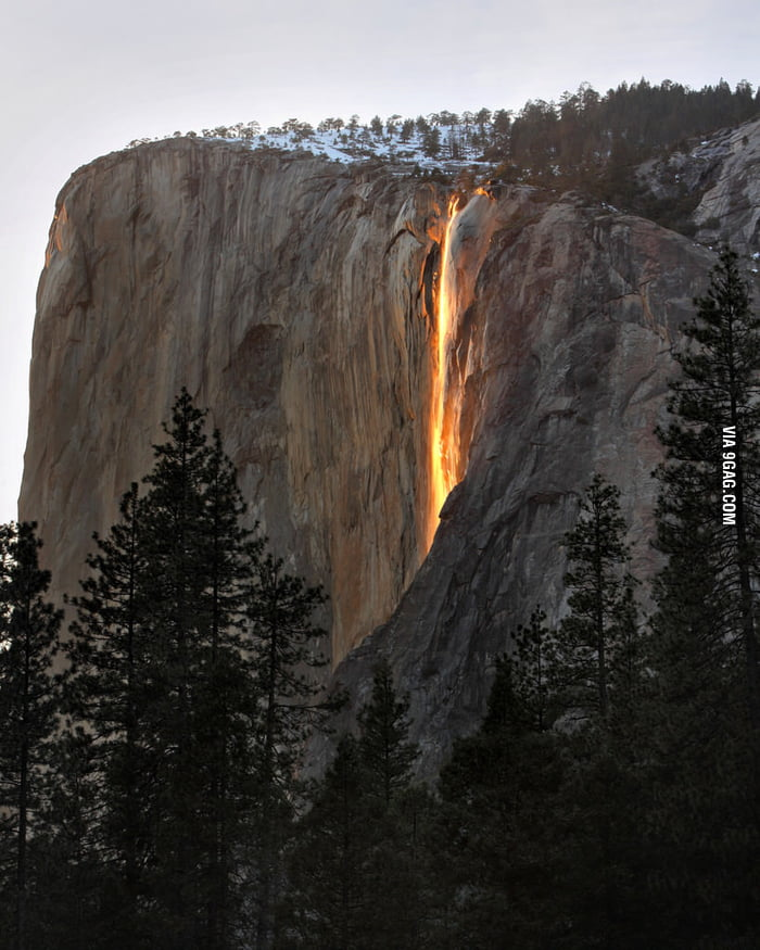 Yosemite Firefall aka Waterfall of Lava