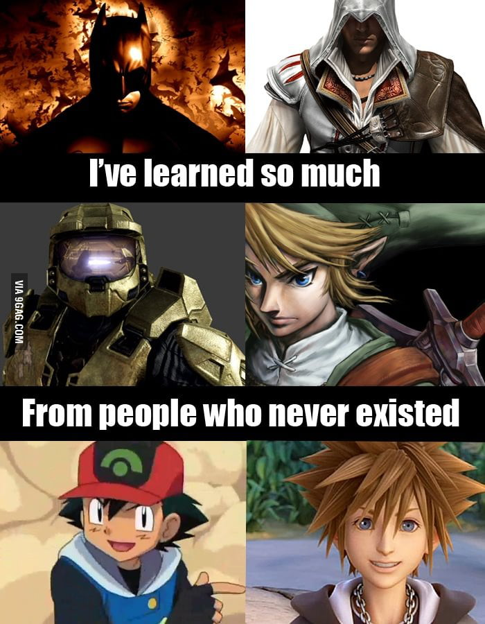 I've learned so much from people who never existed.