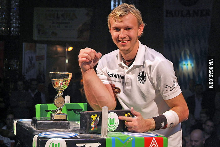 "Matthias Schlitte - ""Arm Wrestler""... yeah right..."