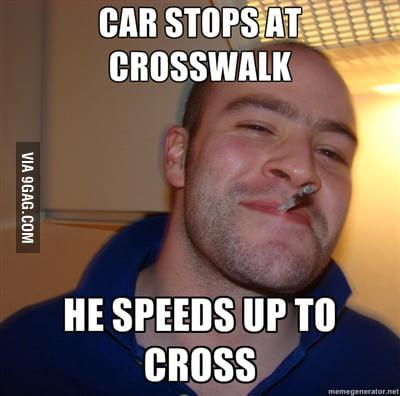 Good guy pedestrian ...