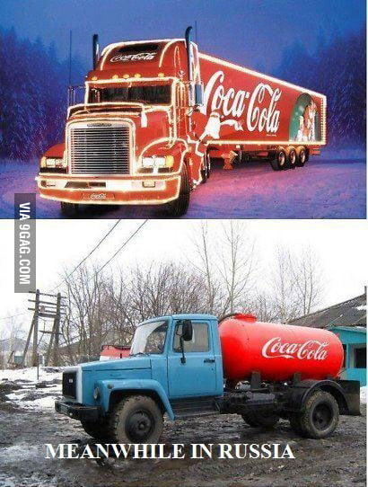 Coca Cola Christmas in Russia