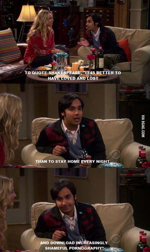 Raj Koothrappali's view on Love
