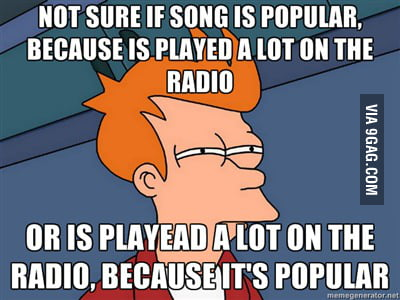 The only thing on my mind,when listening to radio.