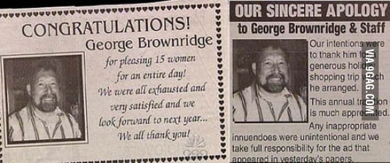 George Brownridge is our new hero.