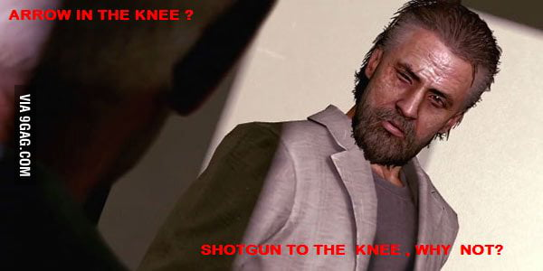 This guy loves shooting knees , just saying .