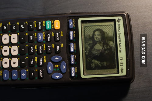 Awesome calculator art: Mona Lisa