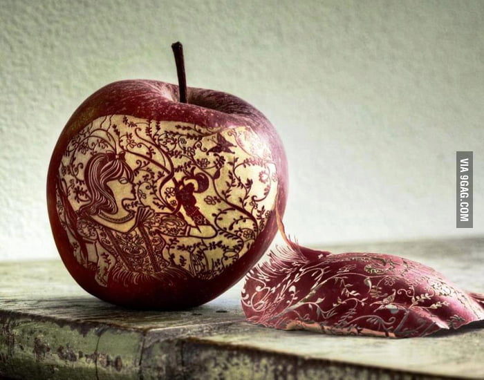 Amazing apple art