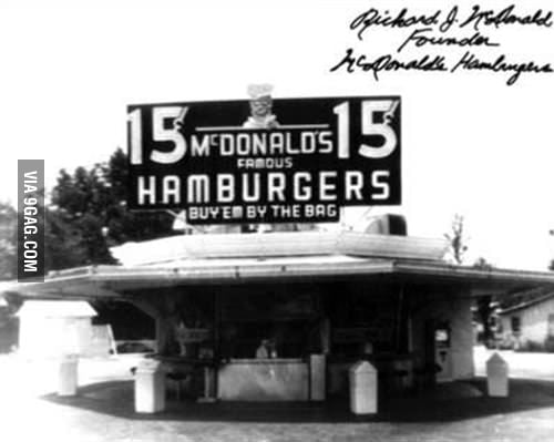 The first Mc Donalds!!!