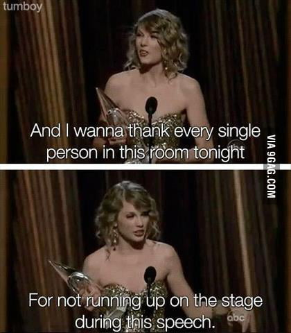 Taylor did a great speech