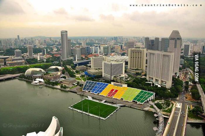Floating football Stadium