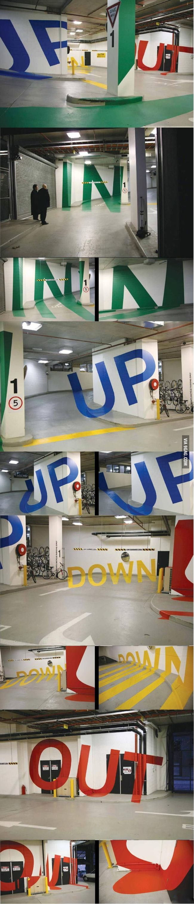 This is one cool parking hall