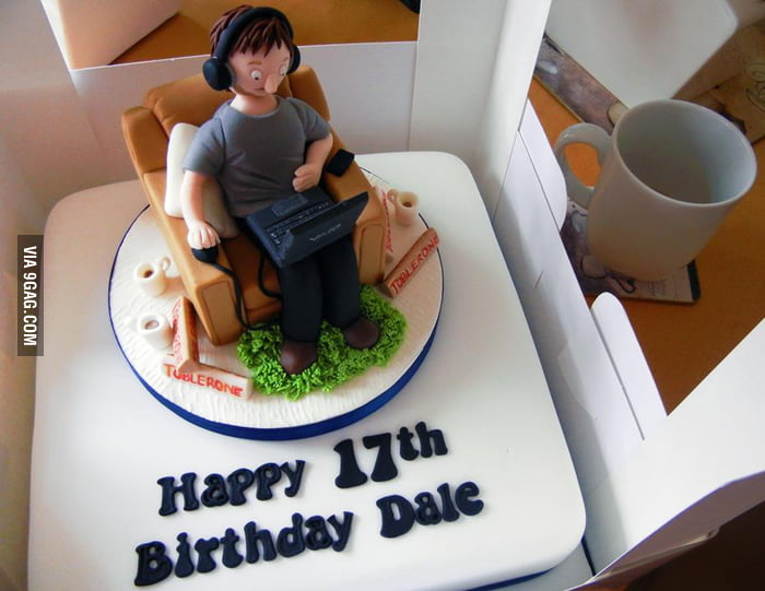 A perfect cake for most kids' 17th birthday day.