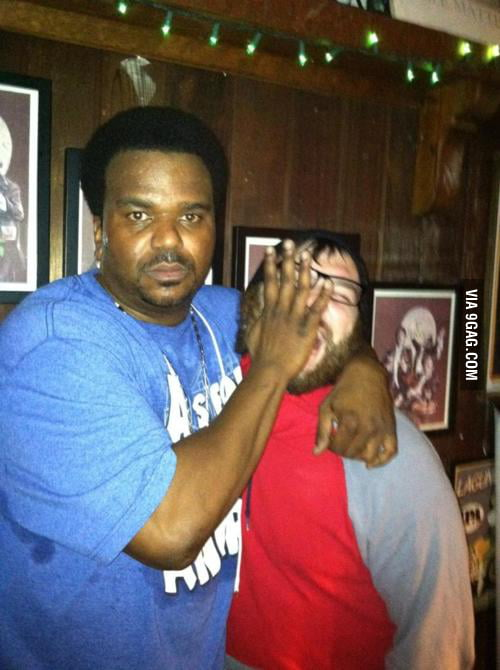 How Craig Robinson took a picture with my friend.