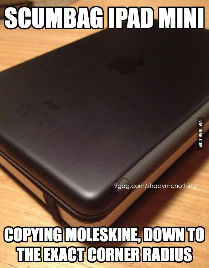 Apple iPad mini and Moleskein
