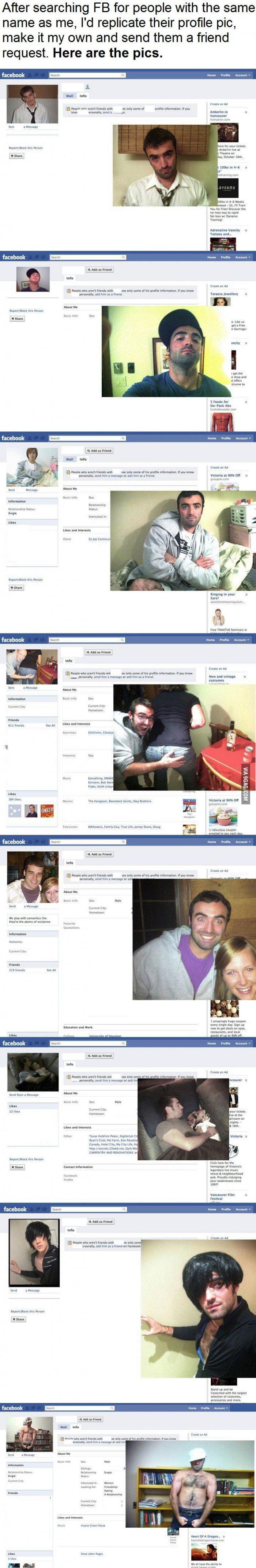 FB profile pic replication lvl: over 9000