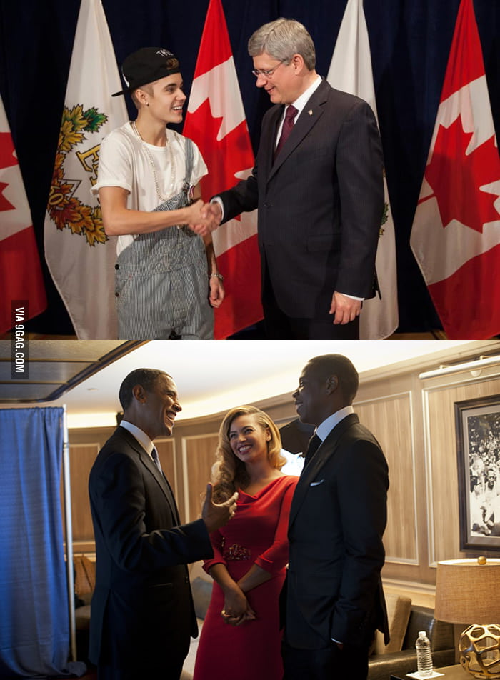 How two artists meeting their respective country leaders.