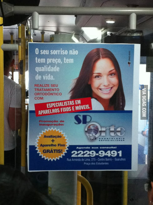Meanwhile in Brazil... Good Girl Gina in a Dentist Ad