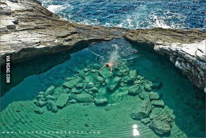 Pool in the middle of the Sea, Thassos, Greece