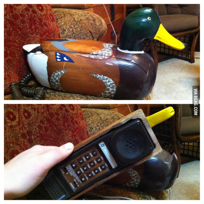 It's not a duck. It's a phone.