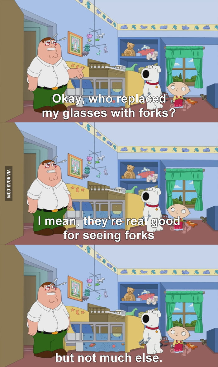 Peter Griffin and his new glasses!