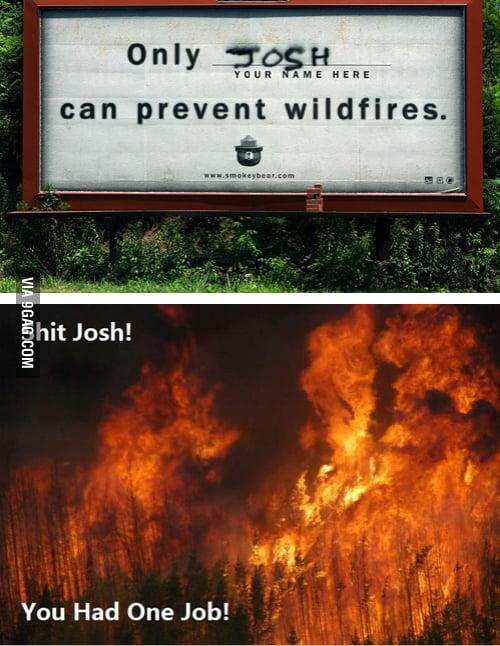 SH*T, JOSH!