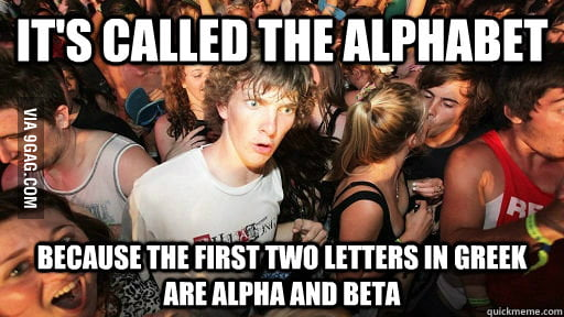 Why alphabet is called alphabet.