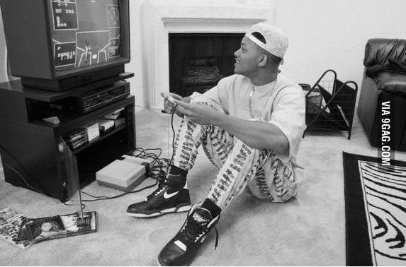 Will Smith playing Nintendo