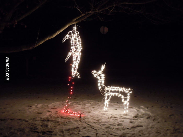 Someone doesn't like Christmas or deer or both.